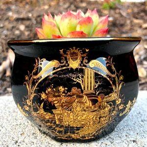 Limoges porcelain planter/cache pot